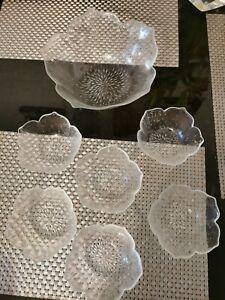 Wonderful French mid century arcoroc glass bowls Set Of 7