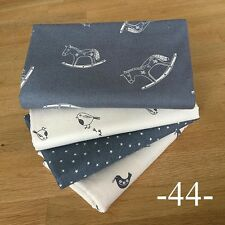 SCANDI CHRISTMAS in grey Fabrics Fat Quarter Bundle #44 ~ Stars Doves Robins