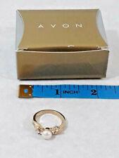Vintage NIB AVON Freshwater Pearl & Crystal Ring Size 7 ~ Gift ~ Ships FREE