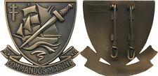 Commandos Marine, insigne de béret, 49 mm, 2 épingles, LR PARIS, (10040)