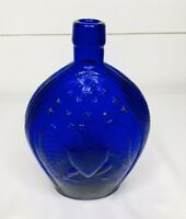 Vintage Empire Glass Works Cobalt Blue Bottle American Eagle Stars*
