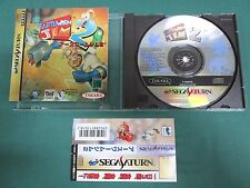 Sega Saturn -- Earthworm Jim 2 -- included spine card.  *JAPAN GAME !!*  16538