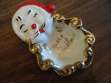 "Vintage SANTA CLAUS  Pottery "" Merry Christmas "" Nut Dish"