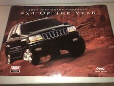 """2001 Jeep Grand Cherokee 4 X 4 Of The Year 26"""" X 38"""" Poster NOS"""