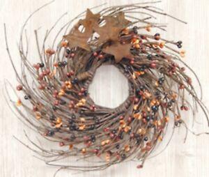 Primitive Pip Berry Twig Wreath