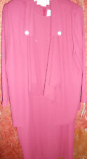 Florentine Dress size 16 Jacket Women Tall NWT Light Maroon Rose Red Lined Pads
