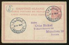 Albania Albanien 1914 10q Skanderbeg Used Postcard Vlone to Germany