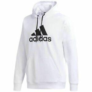 NWT ADIDAS Big & Tall Men's Hoodie Athletic Sweatshirt White Black 4XLT