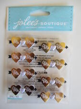 Jolee's Boutique 3D stickers - Mr & Mrs Repeats - gold hearts - wedding