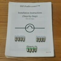 McIntosh MPI-4 Faceplate LED  Lamps bulbs Upgrade Kit lights bulbs instructions