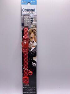 Coastal Safecat Fashion Breakaway Collar Red Black cross Pattern With A Bell