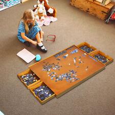Costway Puzzletisch mit 4 Schubladen aus Holz - 80x65cm (23657810)