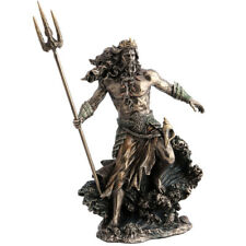 Statue Poséidon en polyrésine de couleur bronze