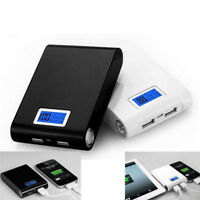 5V Dual USB LCD 4X 18650 Power Bank Case Kit Battery Charger DIY Box For phone