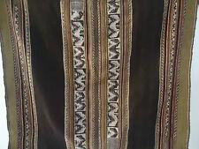 Antique Awayo Manta Cloth Andean Aymara Indian Hand Woven La Paz Bolivia