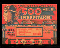 1932 Indianapolis Motor Speedway Race Ticket Reprint On 80 Year Old Paper *011