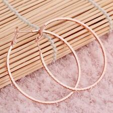 New Fashion 1 Pair Big Hoop Earrings 18K Rose Gold Plated 5.2cm x5cm