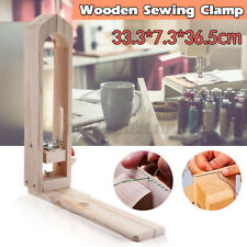 Us Diy Leather Craft Hand Stitching Sewing Lacing Horse Clamp Desktop Table Tool