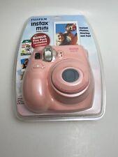 Fujifilm Instax Mini 7s Light Pink Camera Bonus 10 Exposure Instant Film Pack