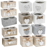 Tea light Holder Provence Wooden Tealight Candles Shabby Chic Gift Home
