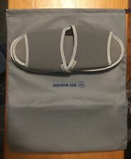 Korean Air Business Class Slippers NEW Unused In Gray Pouch
