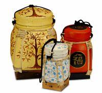 Reiskorb Bambus Vorratskorb Thai Thailand Korb Vorratsbehälter Behälter Tonne