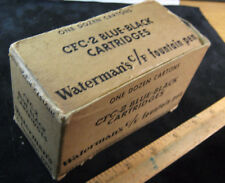 Waterman CF vintage Box Only for Fountain Pen Ink Cartridges CF2-2 BLUE BLACK