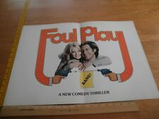Foul Play Goldie Hawn Chevy Chase 1978 academy screening movie program