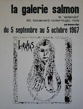 """""""KARAHAS: EXPOSITION LA GALERIE SALMON NICE 1967"""" Affiche originale entoilée"""