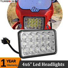 "LED Conversion Headlight Lamp(4x6"" Bulb) for Honda XR250 XR400 XR650 Suzuki DRZ"