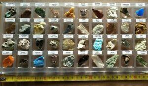 Minerali vari collezione 40 pezzi lotto stock