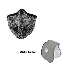 RockBros Cycling Running Anti-dust Half Face Mask with Filter Neoprene Gray