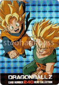 2001 Dragon Ball Z Hero Collection 2 Super Sayen Goten & Trunks #240 Prism