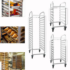 More details for stainless steel racking trolley kitchen bakery roasting pan baking tray rack