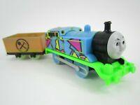 Trackmaster Motorized #1 Hyper Glow Thomas and Tender Thomas Train- Runs Smooth