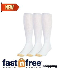 Gold Toe Ultra Tec Performance Over The Calf Athletic Socks, 3-Pack White