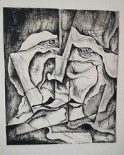 Abstrakte Federzeichnung Signiert HA69  60er Jahre mid century 60s Pop-Art