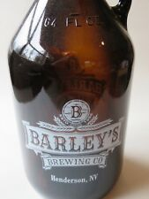 64oz BEER GROWLER ~ BARLEY'S Brewing Company ~ Las Vegas, NEVADA Since 1996