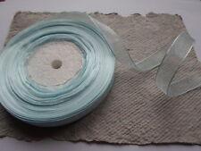 Reel Organza Ribbon ~ Aquamarine ~ 13mm