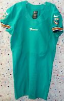 2012 MIAMI DOLPHINS NFL FOOTBALL TEAM GAME ISSUED AQUA SKILL JERSEY Size 44