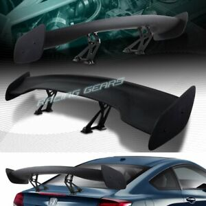 """UNIVERSAL 57"""" WING DRAGON-3 STYLE BLACK ABS GT TRUNK ADJUSTABLE SPOILER WING"""