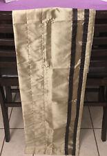 "VGUC-43"" x 17"" Croscill Gold With Btown Stripe Blouson Valance"