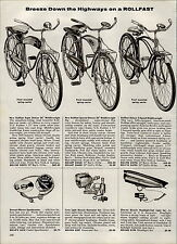 1959 PAPER AD 2 PG Rollfast Bicycle Super Deluxe Special Tank Light Book Rack