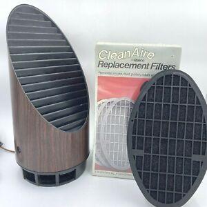 Vintage Ronco Clean Aire Machine 1917 Wood Grain WORKS and 5 Unused Filters TSH0