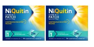 NiQuitin 14 Clear Patch Step 1 21mg Stop Smoking Aid 14 patches x 2 (28 patches)