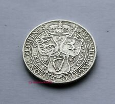 Queen Victoria 1900 Silver Florin. 92.5% two shilling coin  (Sterling) silver HQ