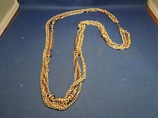 Vintage Fashion Jewelry Necklace Chain Made in West Germany Goldtone with Beads