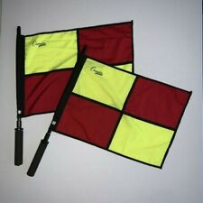 New listing New Set of 2 Champion Sports Linesman Referee Soccer Flags Pair 2 Pcs