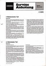 Service Manual-Anleitung für Grundig C 5000
