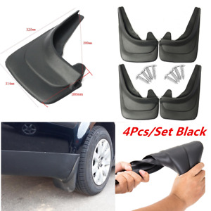 4Pcs/Set Black ABS Soft Plastic Splash Guards Mud Flaps Fender For Car Truck RV